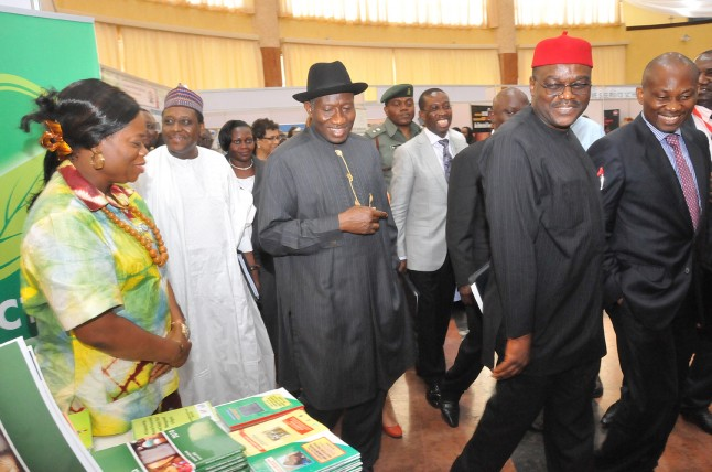 President Jonathan, health ministers and legislators during the