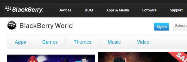 App Store : BlackBerry AppWorld