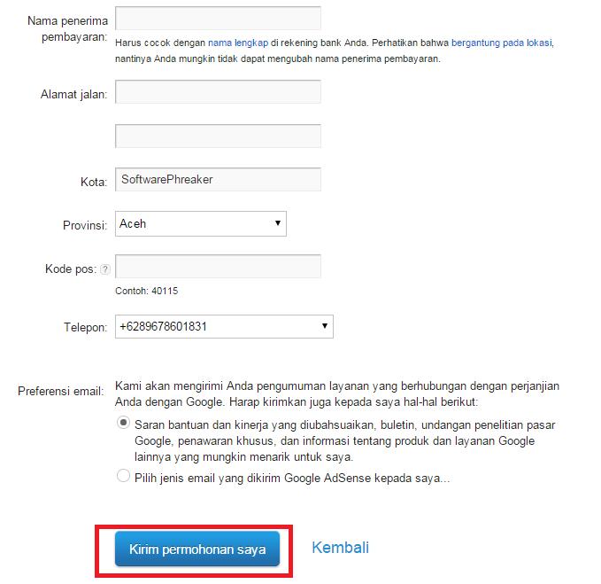 Cara Mudah Daftar Google Adsense Lewat Blogger