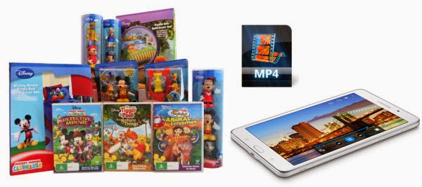 Copy Disney DVD to HD MP4 for Galaxy Tab 4