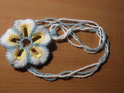 объемного цветка из бисера