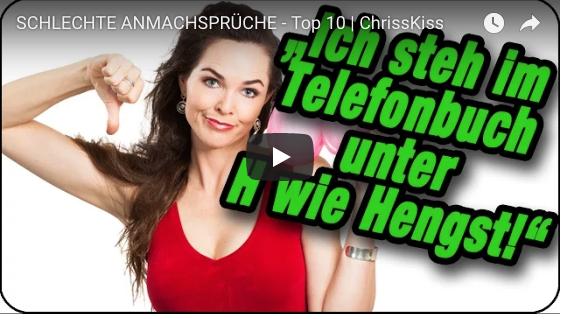 SCHLECHTE ANMACHSPRÜCHE - Top 10 | ChrissKiss