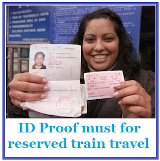 ID proof must for train travel