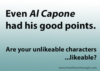 writing likeable characters -- even Al Capone had his good points