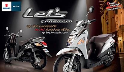 Harga Kredit Suzuki Let's Premium dan Sporty Terbaru 2014