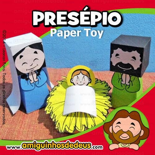 presépio paper toy amiguinhos de deus