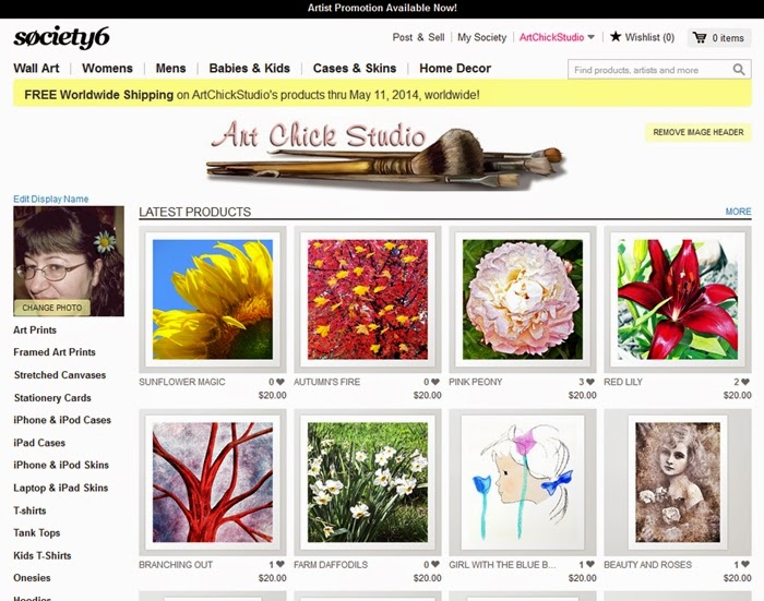Art Chick Studio Society6 Shoppe