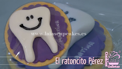 Galletas de fondant personalizadas ratoncito pérez Laia's Cupcakes Puerto Sagunto