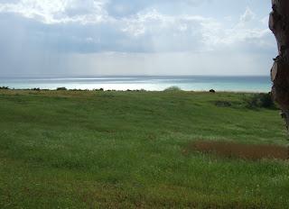 Bild 10: Hang hinunter in das östlich liegende Tal des Platani