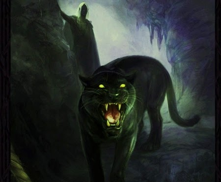 Angry black jaguar - photo#23