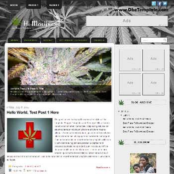 Hi Marijuana Blogger Template. blogger template magazine style