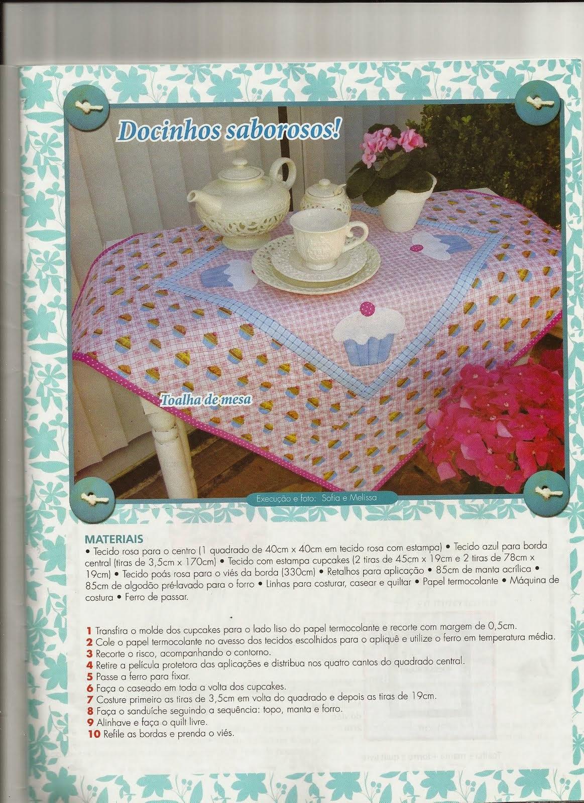 Moldes toalha de mesa com cupcakes