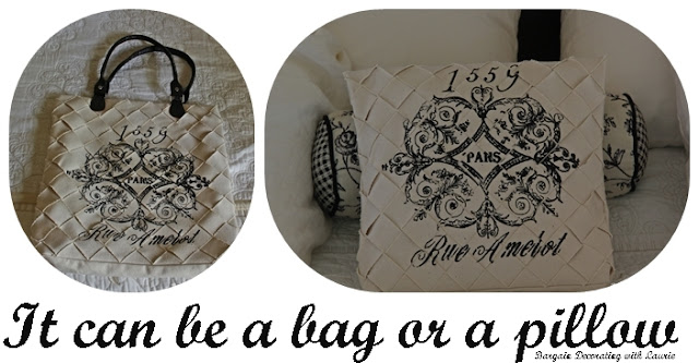 Bag or Pillow-Bargain Decorating with Laurie