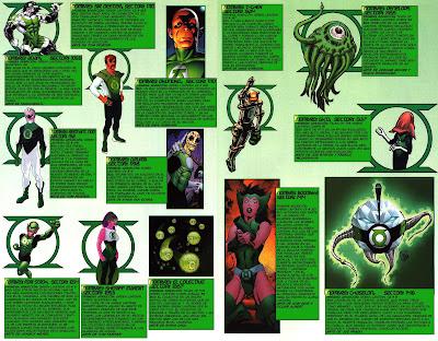 Varios Linternas Verdes ficha comics