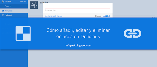 Cómo añadir, editar y eliminar enlaces en Delicious