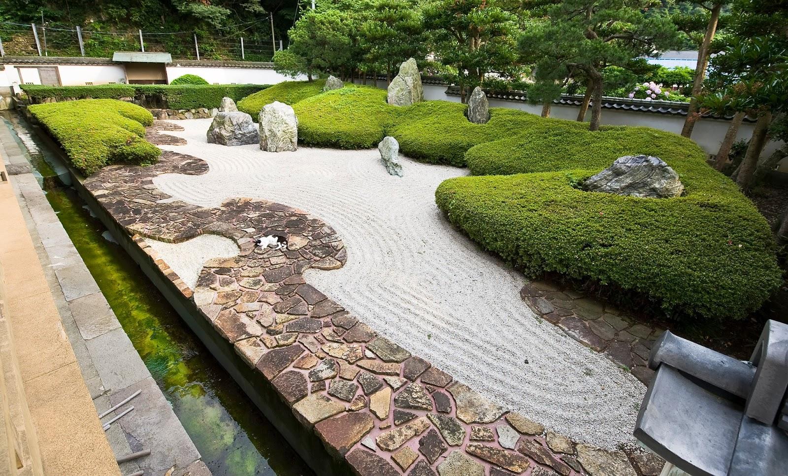 Arte y jardiner a kare sansui sekei tei jard n seco y for Jardines japoneses zen