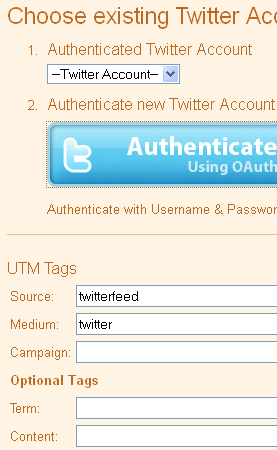 Gambar 5 Tombol Authenticate Twitter