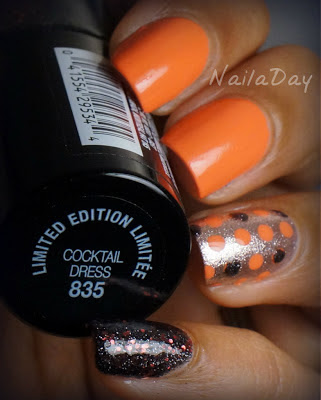 NailaDay: Halloween Mani with Sinful Colors Hazard and double accent