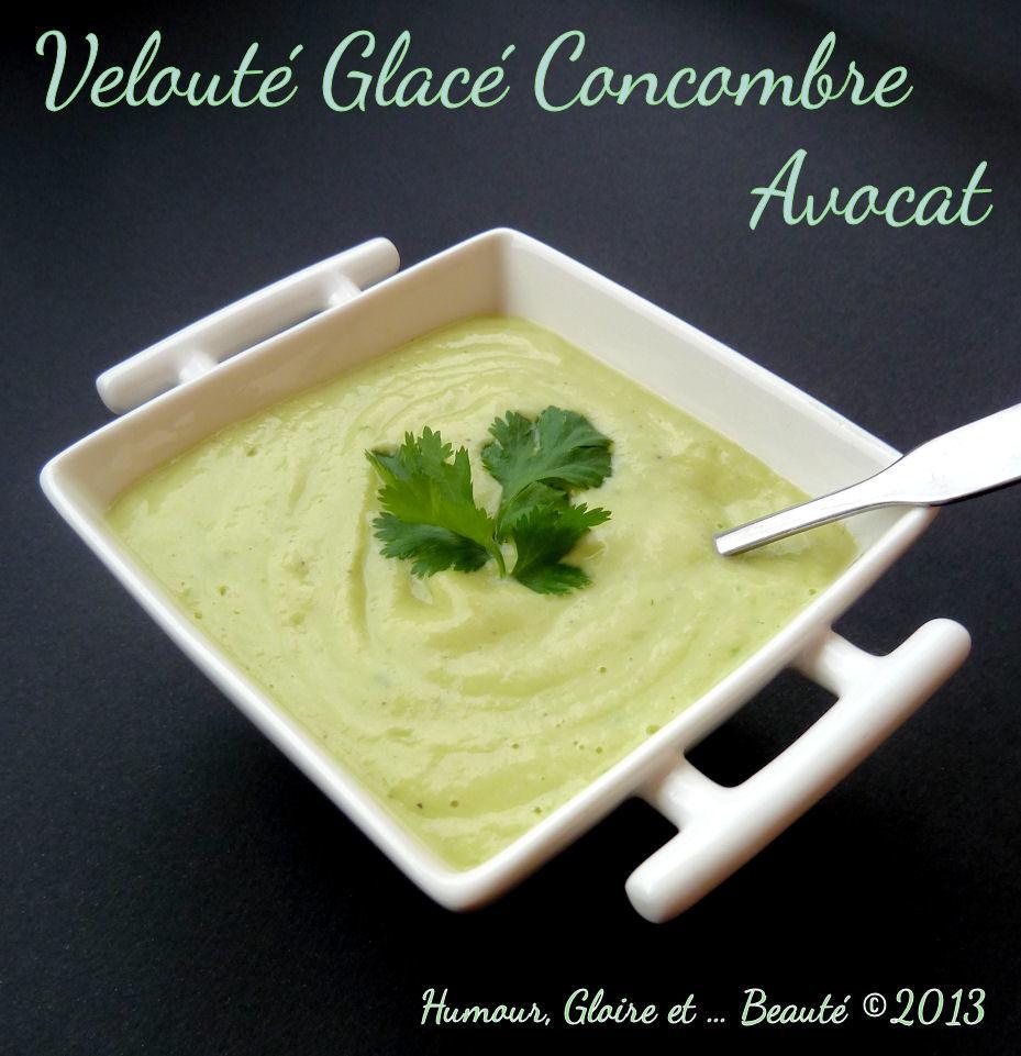 veloute glace onctueux au concombre et au yaourt