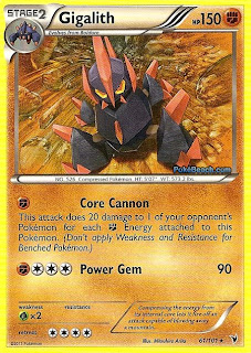 Gigalith Pokemon Card Noble Victories Set