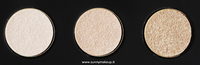Make Up For Ever - Palette Artist Nude. Palette di ombretti Artist Shadow. Da sinistra verso destra: I - 528, I - 514, ME - 512.
