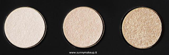 Make Up For Ever - Palette Artist Nude. Palette di ombretti Artist Shadow. Da sinistra verso destra: I - 528, I - 514, ME - 512.