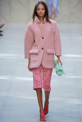 Burberry Spring 2014 Pink Coat