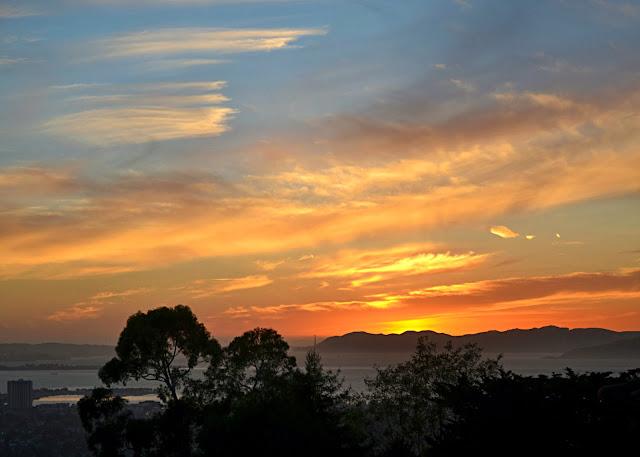 Bay Area, Golden Gate Bridge, California, sunset, skyline