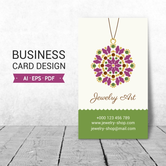 Jewelry business card design beads vector graphics jewelry business card template for jewelry shop owners perfect for jewelry marketing and promotion cheaphphosting Image collections