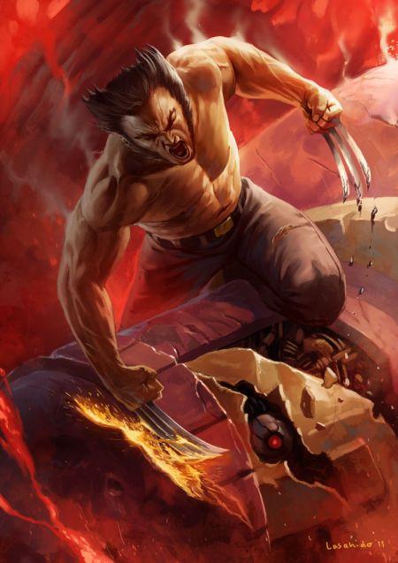 Lius Lasahido deviantart ilustrações fantasia arte conceitual Wolverine fanart