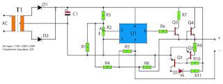 op-amp regulator power supply