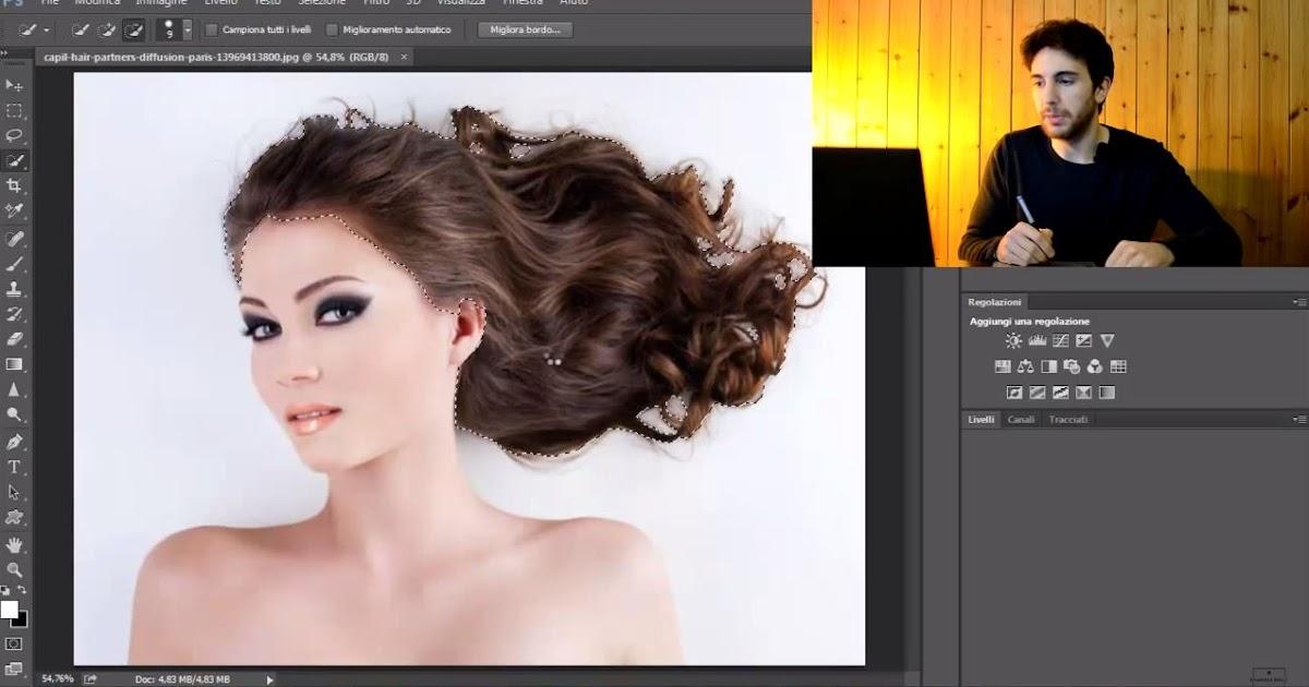 Scontornare in modo perfetto una foto e cambiare colore capelli - Tutorial per Photoshop