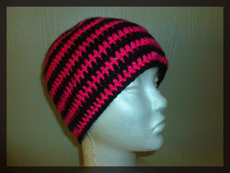 Crochet Beanie Pattern Striped : Flowers Creations: FREE Striped crochet beanie Pattern ...