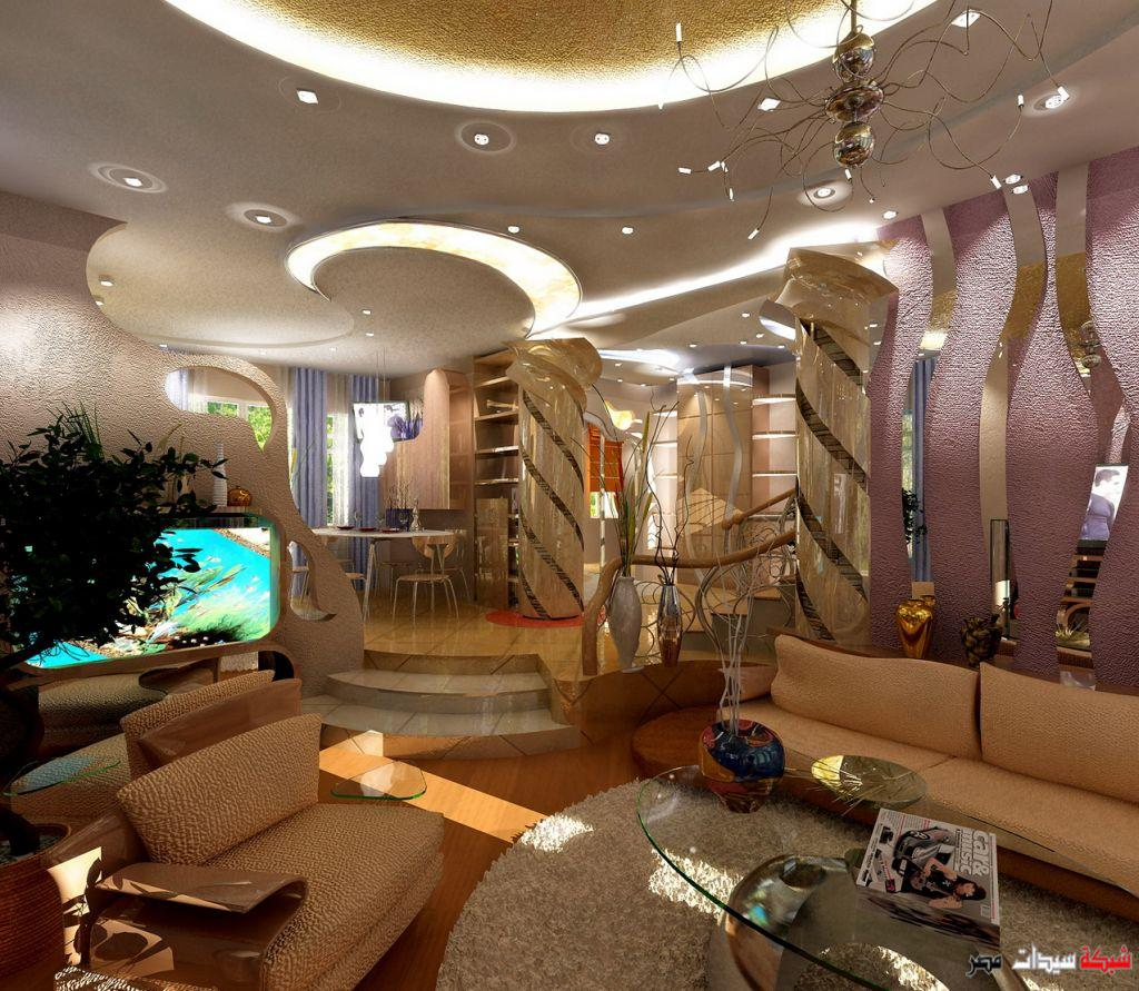 fall ceiling designs from gypsum and wood for living room title=