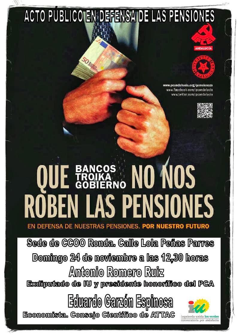 Acto Público en Defensa de las Pensiones