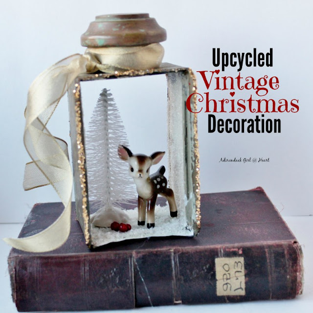 Adirondack Girl-Vintage DIY Christmas Ornament-Treasure Hunt Thursday- From My Front Porch To Yours
