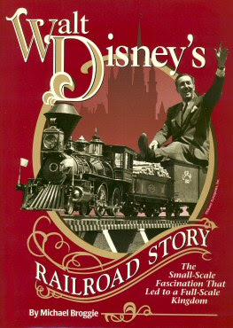 Book cover showing Walt Disney riding on a minature train.