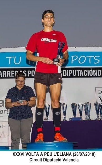 XAVI PONS RUBIO, 1º JUNIOR MASC. VOLTA A PEU L'ELIANA 2018
