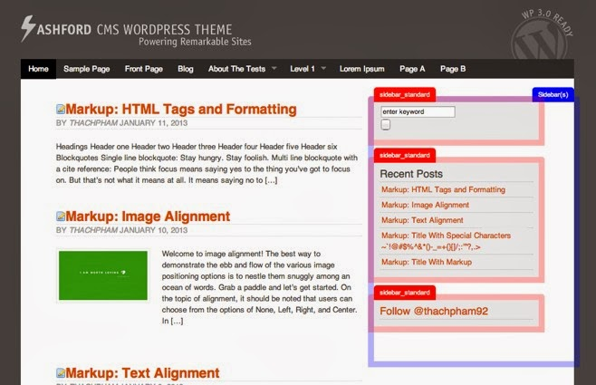 Best Free WordPress Themes Framework 2014