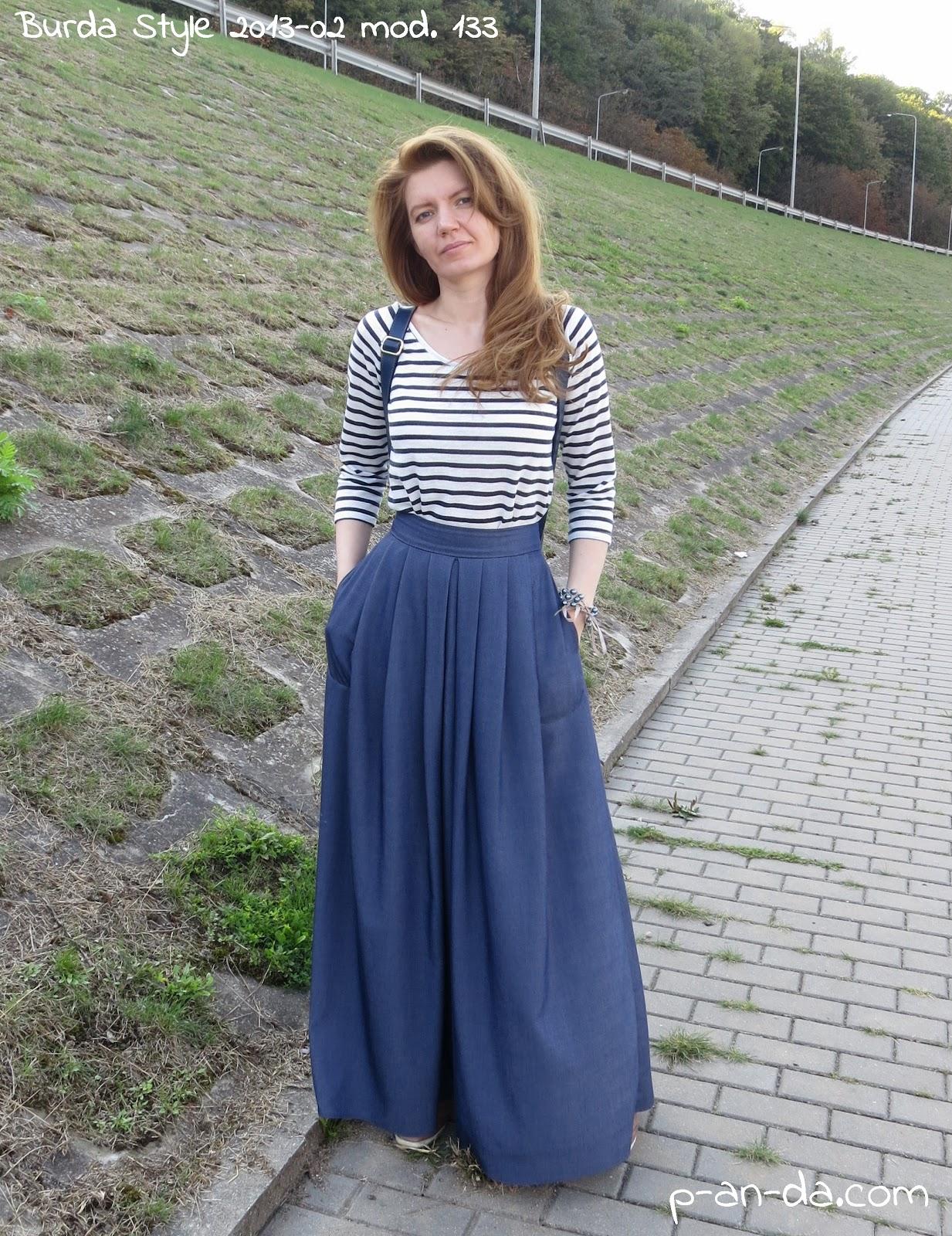 Юбка в пол из джинс