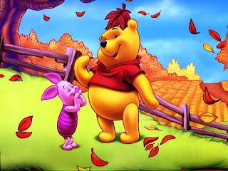 Wallpaper Gambar Winnie The Pooh dan Piglet