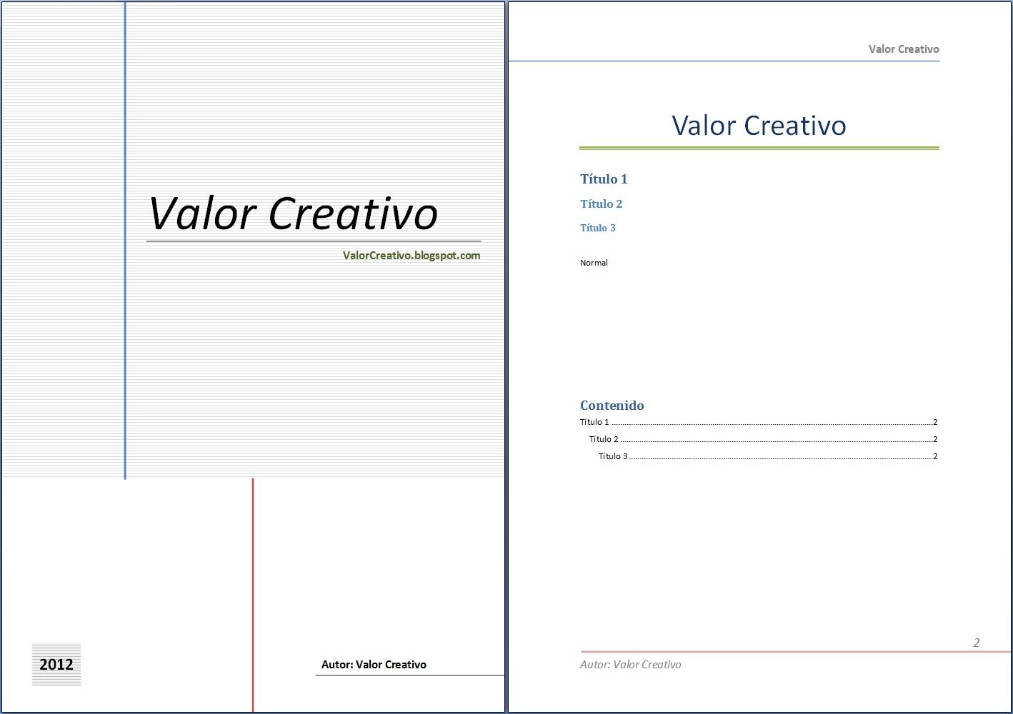 Valor Creativo: Plantilla Word 2003, 2007 y 2010 - Día del ...