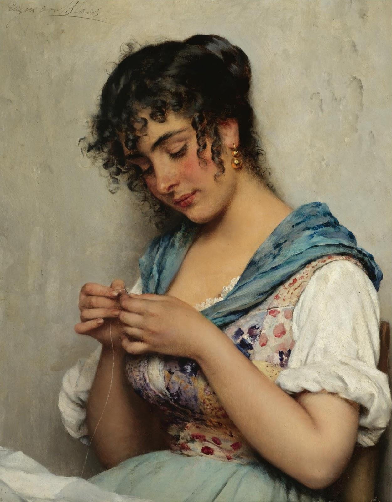Eugene de  laas A venetian beauty