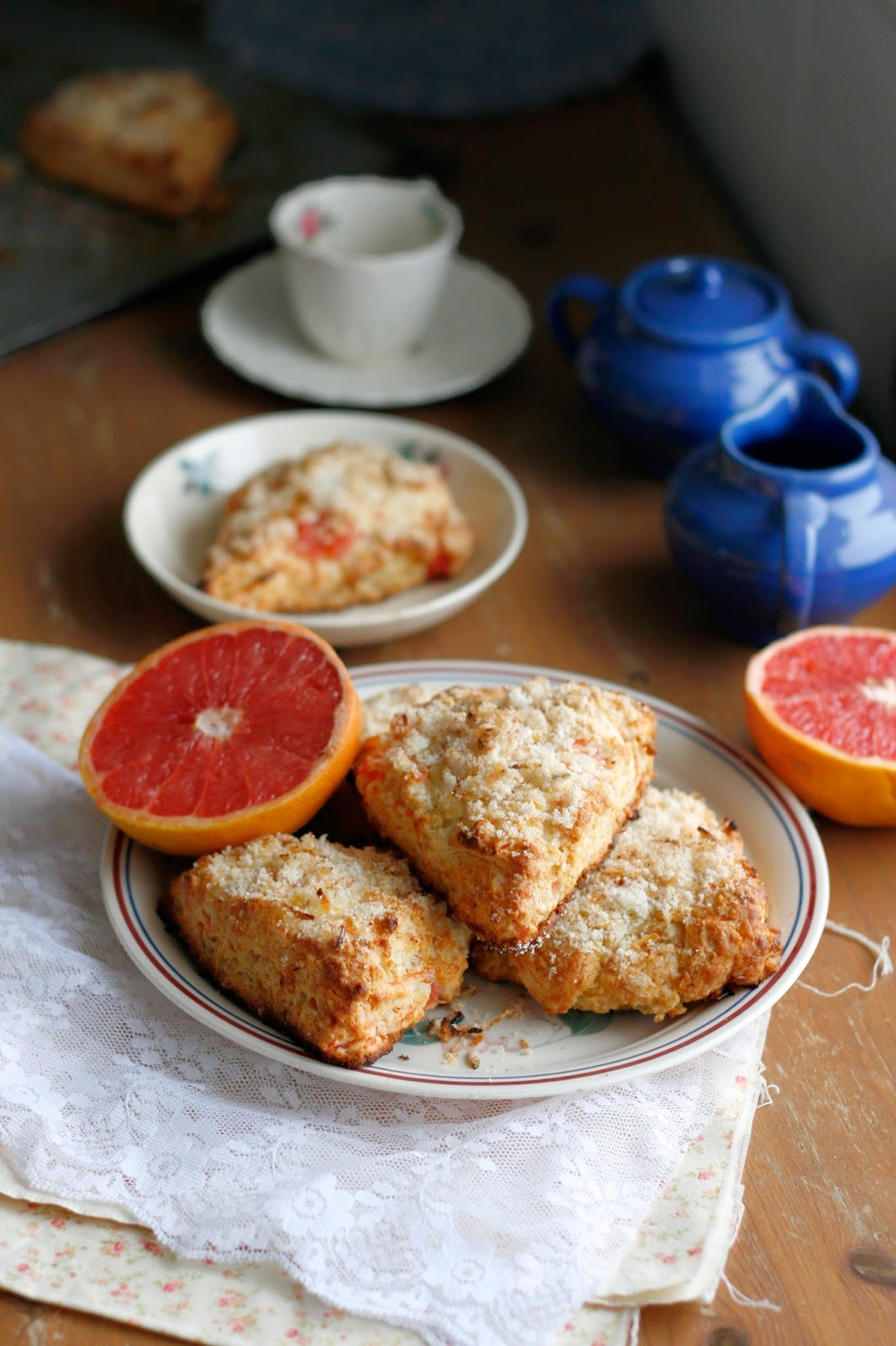 Indigo Scones: Grapefruit Honey Yogurt Scones