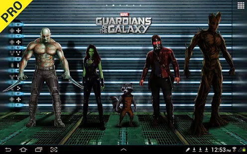 Guardians of the Galaxy LWP (Premium) v1.01 Apk Android