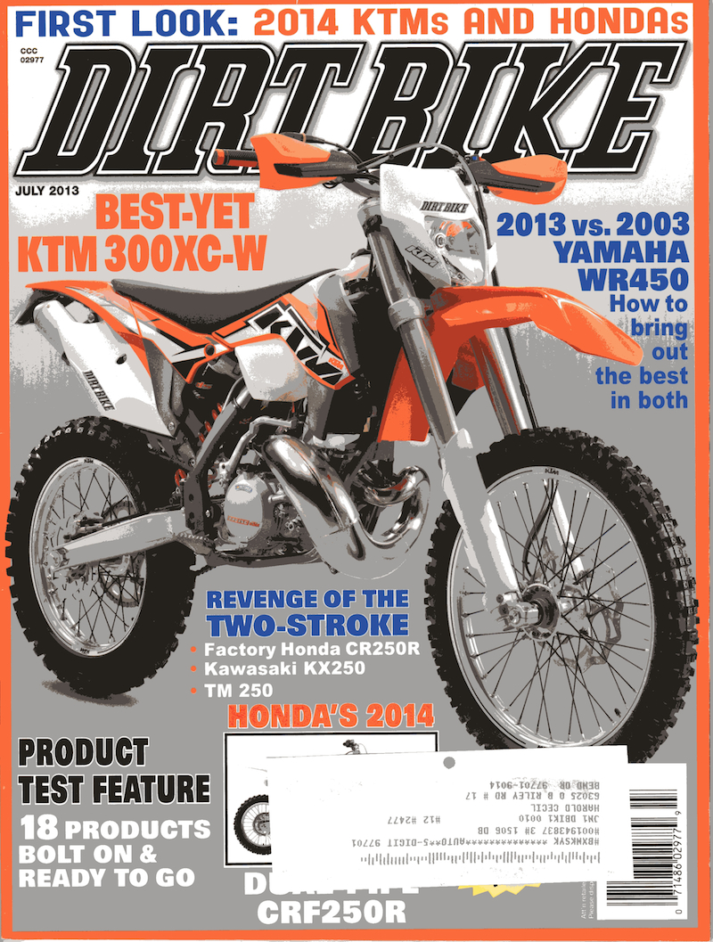 dirt bike magazine july 2013 thanks dirt bike magazine for including ...