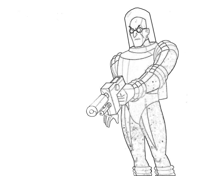 Mr Freeze Coloring Pages #1