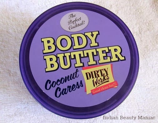 Dirty Works Coconut Caress Body Butter Review and Swatch