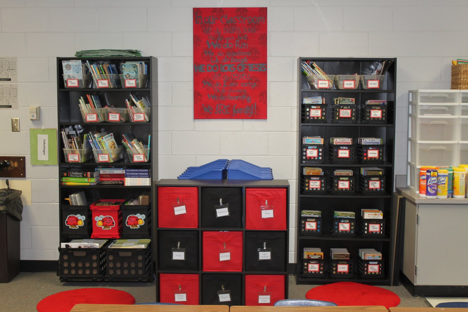 Classroom Shelves Ideas ~ Dandelions and dragonflies finally my classroom reveal