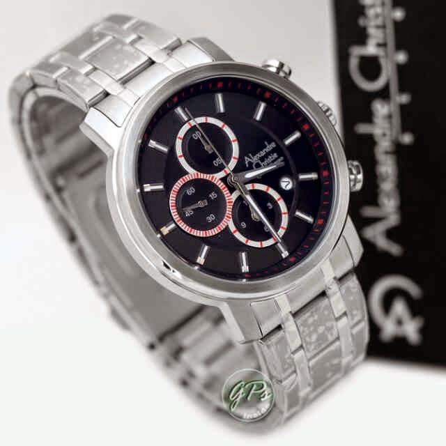 Alexandre Christie 6332 SS silver hitam